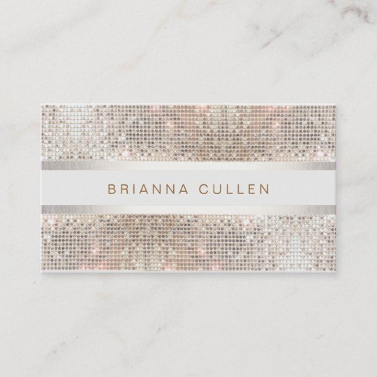 Modern stylish stripes silver sequin business card zazzle modern stylish stripes silver sequin business card colourmoves