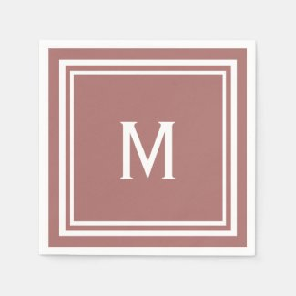 Modern Stylish Terracotta Monogram