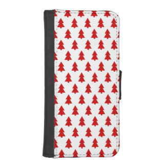 Modern Stylish Tree Pattern Red iPhone 5 Wallet Cases