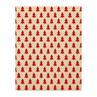 Modern Stylish Tree Pattern Red Wood Wall Art