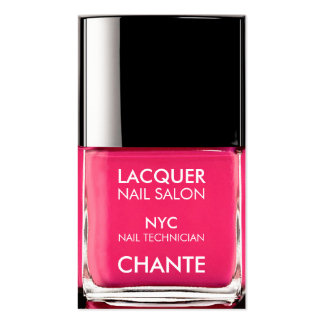 Modern stylish trendy neon pink nail polish chic Double-Sided standard business cards (Pack of 100)