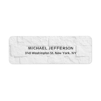 Modern Stylish Trendy Unique Special Gray Wall Label