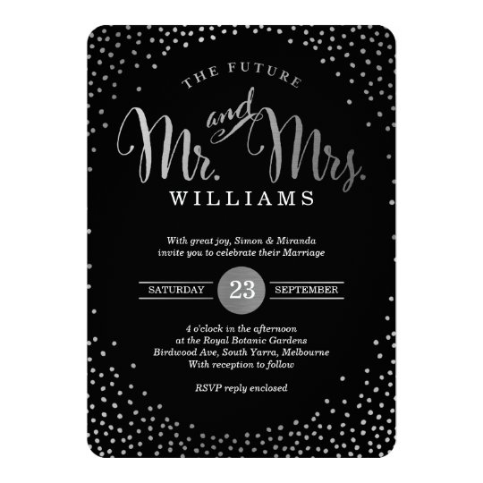 Black Red Silver Wedding Invitations