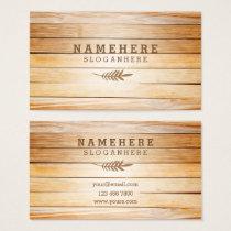 Modern Stylish Wood Business Card