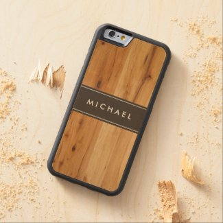 Modern Stylish Wood Grain Wood Made Carved® Maple iPhone 6 Bumper Case