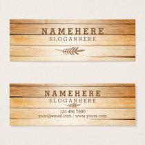 Modern Stylish Wood Mini Business Card