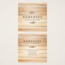 Modern Stylish Wood Square Business Card