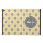 Modern Stylish Yellow Grey Diamond Pattern iPad Air Case