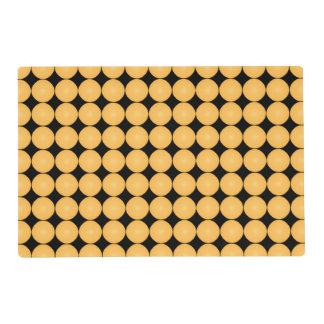 Modern Stylish Yellow Polka Dot Placemat