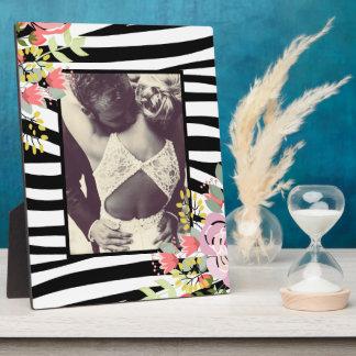 Modern stylish zebra stripes photo frame