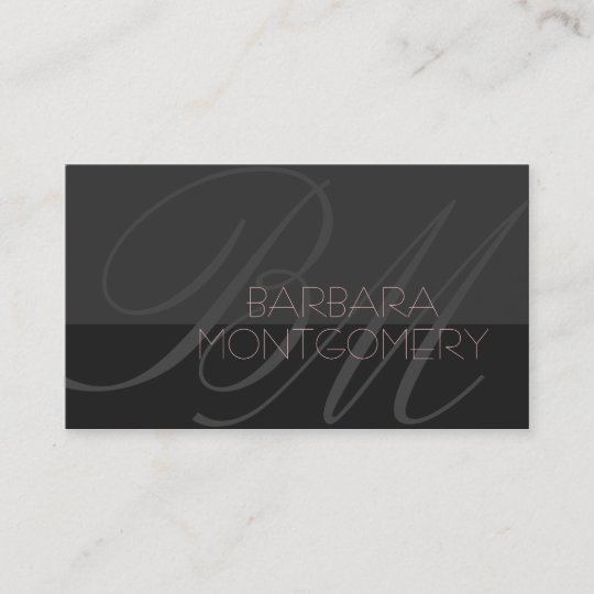 Modern Stylist Fashion Designer Business Card Zazzle Com