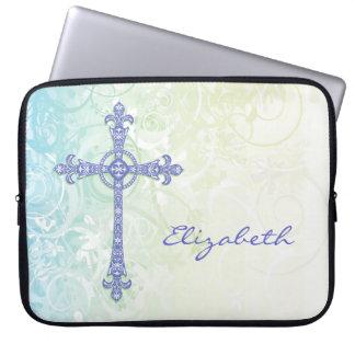 Modern Stylized Cross Laptop Sleeve