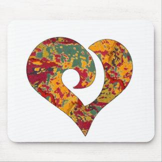 Modern Stylized Hooked Heart  17 Mouse Pad