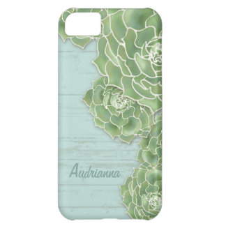 Modern Succulent Cactus Fence Wood Board Covers