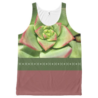 Modern Succulent Design by Bubbleblue All-Over Print Tank Top