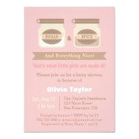 Sugar And Spice Baby Shower Invitations Announcements Zazzle