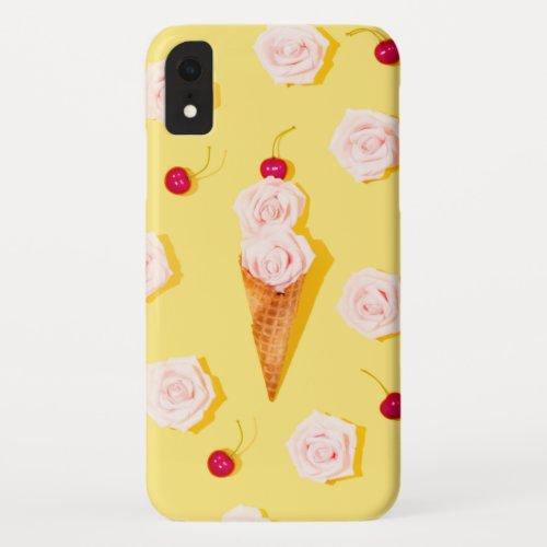 Modern Summer Floral Ice-cream | Summer Phone Case