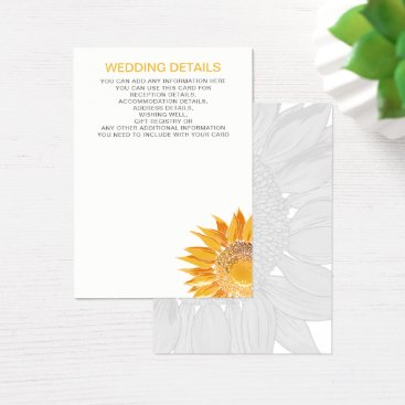 Modern SunFlower Wedding cards