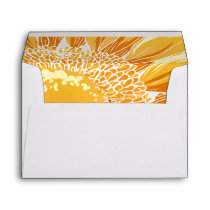 Modern SunFlower Wedding Envelope