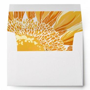Modern SunFlower Wedding Envelope