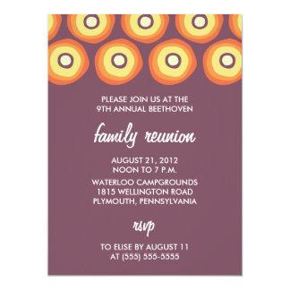 Modern Suns Family Reunion Invitations - plum