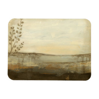 Modern Sunset Landscape Oil Painting Magnet