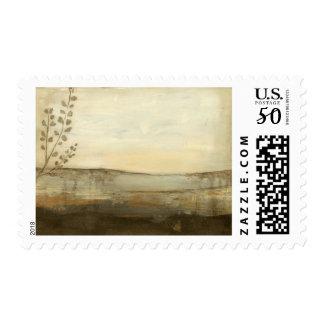 Modern Sunset Landscape Oil Painting Postage