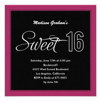Modern Sweet 16 Invitations (Customizable Color) Personalized Invite