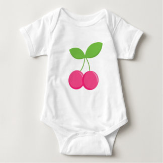 Modern & Sweet Cherry baby gift- Pink Cherries Baby Bodysuit