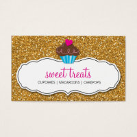 Cupcakes business cards 3900 cupcakes business card templates cupcakes business cards modern sweet cute cupcake pink gold glitter flashek Images