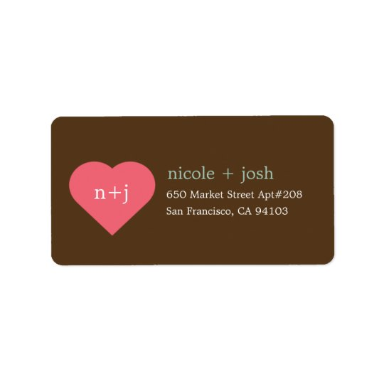 modern sweetheart address labels zazzle com