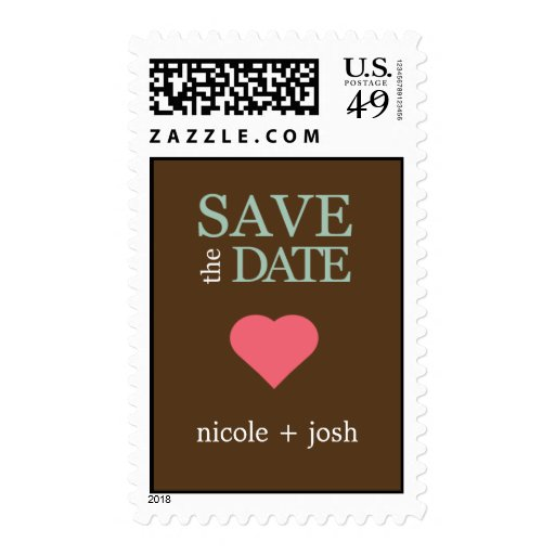 Modern Sweetheart Save The Date Postage Stamp Postage Stamps