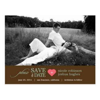 Modern Sweetheart Save The Date Postcard Postcard
