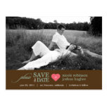 Modern Sweetheart Save The Date Postcard Postcard