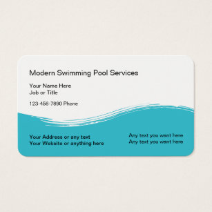 Pool service business cards templates zazzle modern swimming pool service business card colourmoves Choice Image