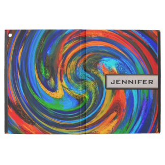 Modern Swirl Abstract Art #10 iPad Pro Case