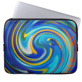 Modern Swirl Abstract Art #16 Laptop Sleeve