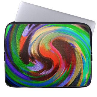 Modern Swirl Abstract Art #25 Laptop Sleeve