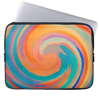 Modern Swirl Abstract Art #8 Computer Sleeve