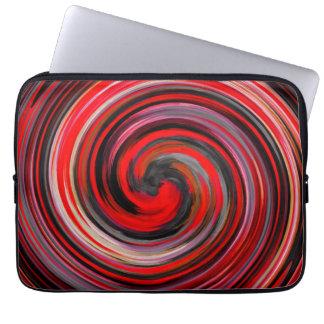 Modern Swirl Abstract Art Computer Sleeve