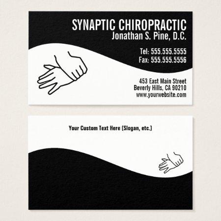 Modern Swirl Adjusting Hands Chiropractor Business Card