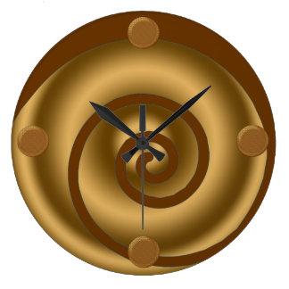 Modern Swirl Art Wall Clock