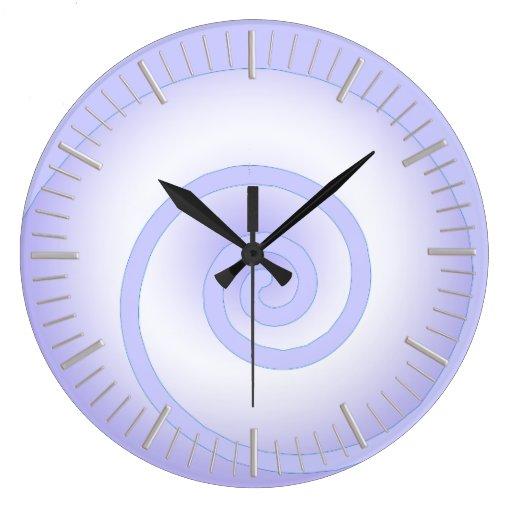 Wall Clock Artwork : Modern swirl art wall clock zazzle