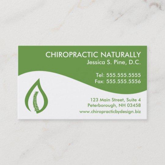 Modern Swirl Chiropractic Business Cards Zazzle