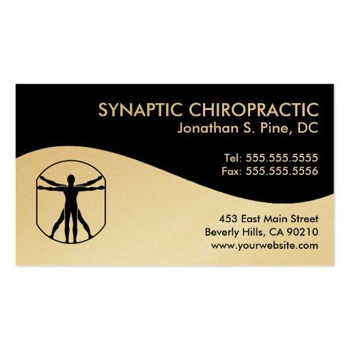 Modern Swirl Chiropractic Business Cards