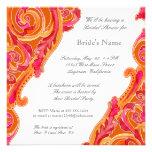 Modern Swirl Flourish Heart Bridal Shower Invite