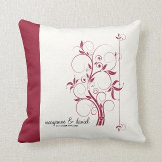 Modern Swirl Flourish Scroll Vintage Leaf Pattern Throw Pillow