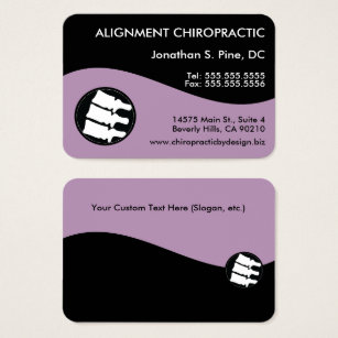 Chiropractic business cards templates zazzle modern swirl oversized chiropractic business card colourmoves