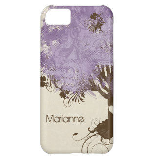Modern Swirl Scroll Tree of Life Spring Summer Cover For iPhone 5C