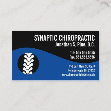 Modern Swirl Spine Blue Office Hours Chiropractor